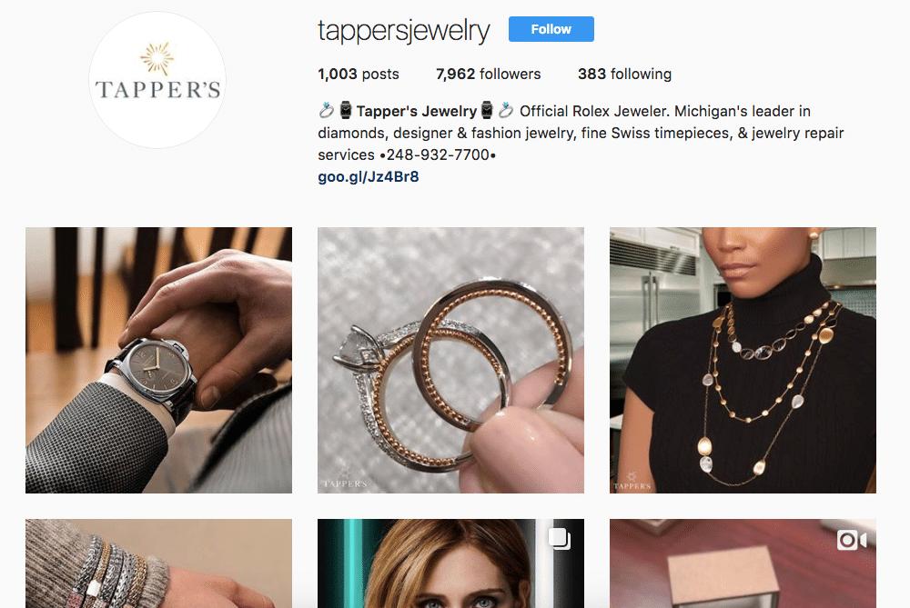 Tapper's Jewelry Instagram